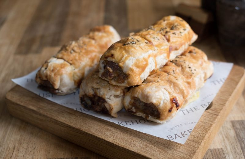 Homemade Sausage Rolls at the BakeHouse, Chelmsford